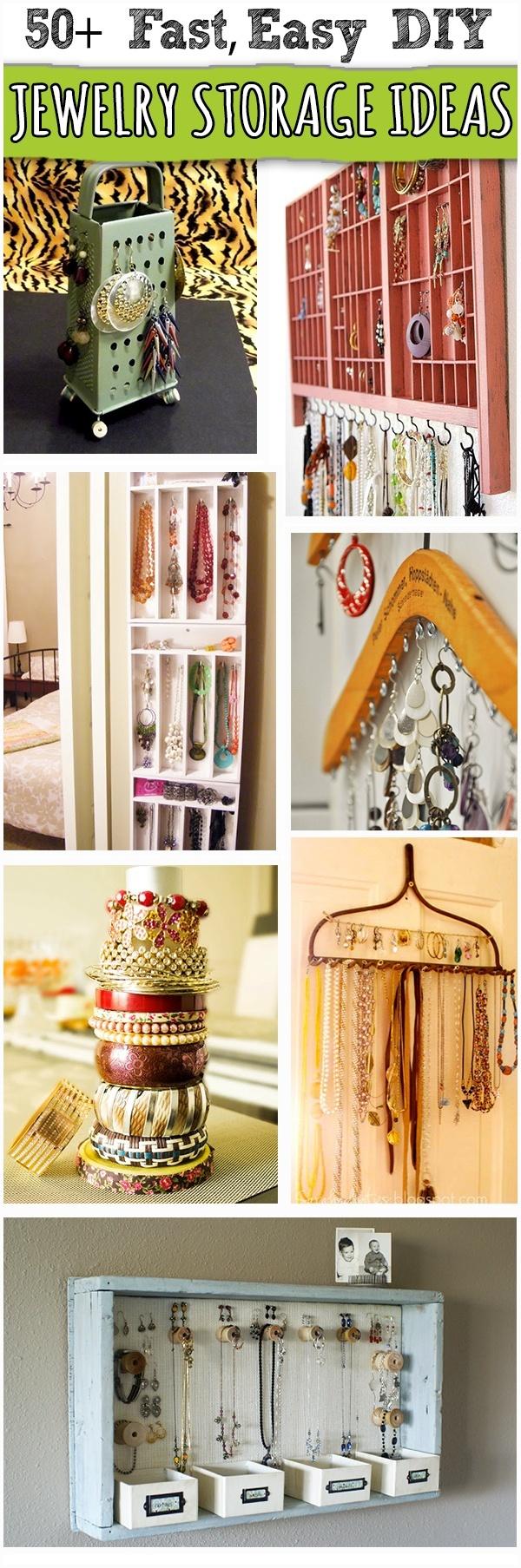 50 Creative DIY Jewelry Organizer Ideas - DIY Craft Room