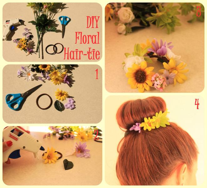 Diy Flower Hair Tie Diy Craft Room