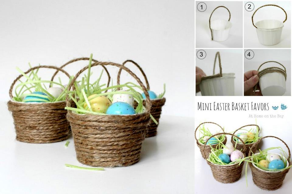 Diy mini easter egg basket diy craft room diy mini easter basket negle Image collections