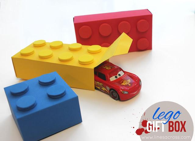 Make a Paper Lego Gift Box – DIY Craft Room