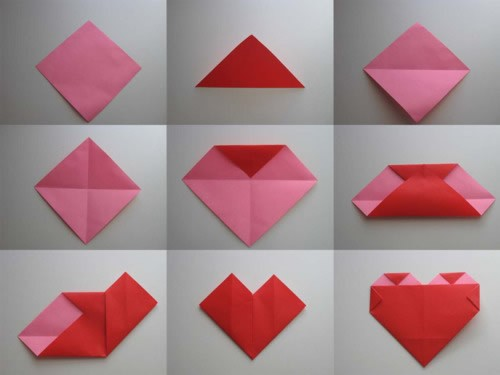 Origami Heart Picture Tutorial – DIY Craft Room - photo#2